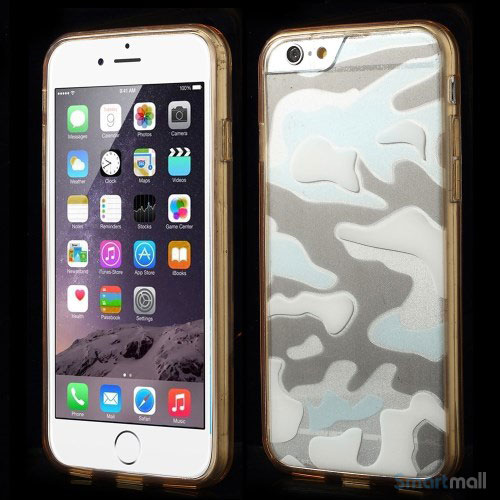 Camouflage-moennstret-cover-til-iPhone-6,-semitransparent-champagnefarvet