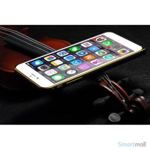 Luksus-bag-cover-til-iPhone-6,-syet-laeder-med-metalkanter-FRONT