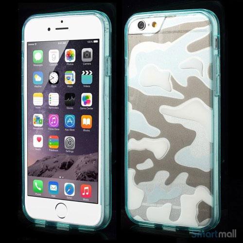 Semitransparent-cover-til-iPhone-6-med-spaendende-3D-camouflage-moennster-cyan