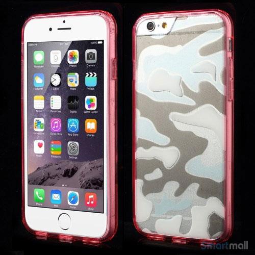 Semitransparent-cover-til-iPhone-6-med-spaendende-3D-camouflage-moennster-roed