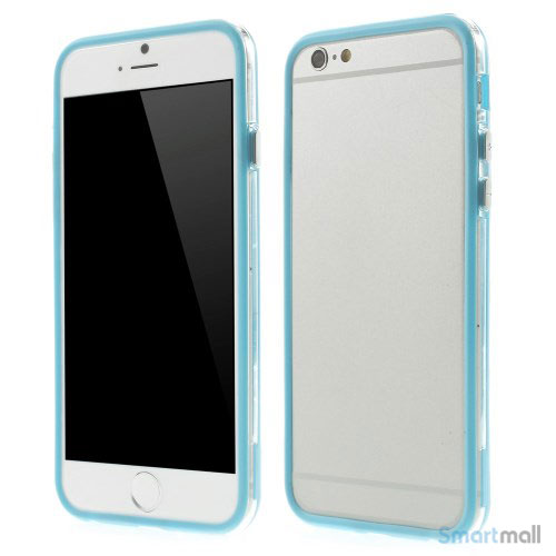 Beskyttende bumper for iPhone 6 i bloed TPU-plast - Baby Blaa