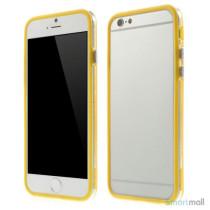 Beskyttende bumper for iPhone 6 i bloed TPU-plast - Gul
