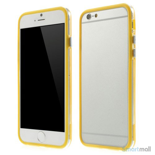 Beskyttende bumper for iPhone 6 i bloed TPU-plast - Gul