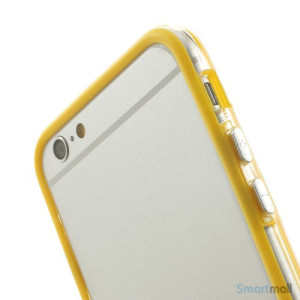 Beskyttende bumper for iPhone 6 i bloed TPU-plast - Gul6