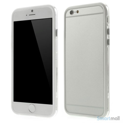 Beskyttende bumper for iPhone 6 i bloed TPU-plast - Hvid