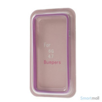 Beskyttende bumper for iPhone 6 i bloed TPU-plast - Lilla7