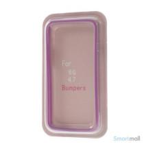 Beskyttende bumper for iPhone 6 i bloed TPU-plast - Lilla7