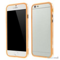 Beskyttende bumper for iPhone 6 i bloed TPU-plast - Orange