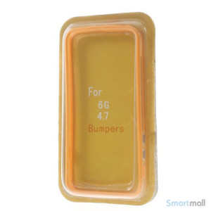 Beskyttende bumper for iPhone 6 i bloed TPU-plast - Orange7