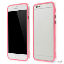Beskyttende bumper for iPhone 6 i bloed TPU-plast - Pink
