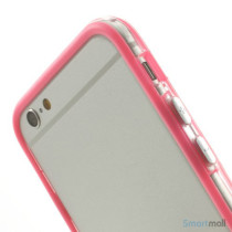 Beskyttende bumper for iPhone 6 i bloed TPU-plast - Pink6