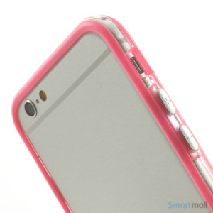 Beskyttende bumper for iPhone 6 i bloed TPU-plast - Pink6