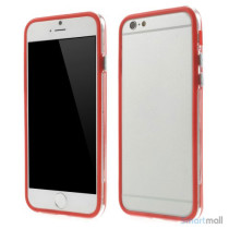 Beskyttende bumper for iPhone 6 i bloed TPU-plast - Roed