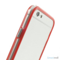 Beskyttende bumper for iPhone 6 i bloed TPU-plast - Roed6