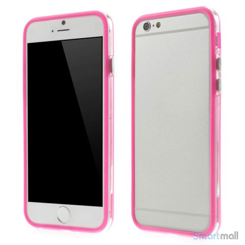 Beskyttende bumper for iPhone 6 i bloed TPU-plast - Rose