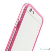 Beskyttende bumper for iPhone 6 i bloed TPU-plast - Rose5