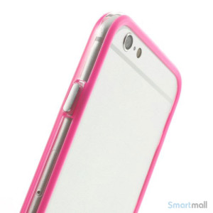Beskyttende bumper for iPhone 6 i bloed TPU-plast - Rose5
