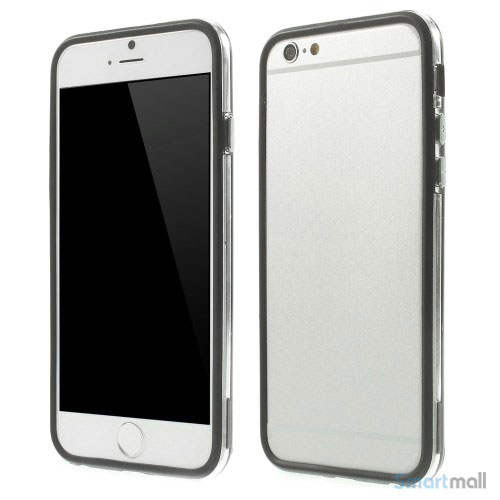 Beskyttende bumper for iPhone 6 i bloed TPU-plast - Sort