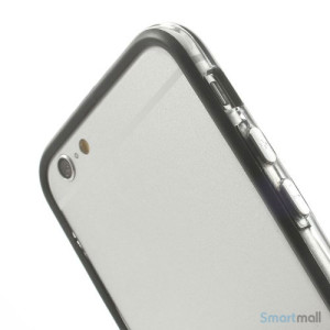 Beskyttende bumper for iPhone 6 i bloed TPU-plast - Sort6