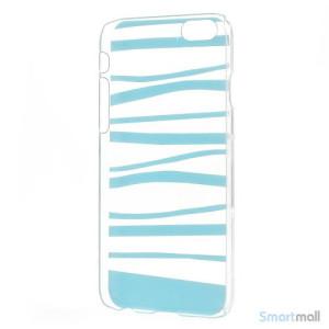 Cover til iPhone 6 med dekorative irregulaere striber - Blaa5
