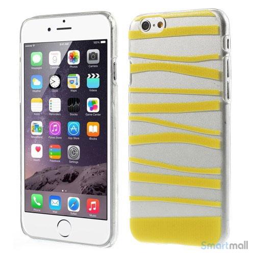 Cover til iPhone 6 med dekorative irregulaere striber - Gul