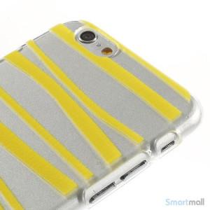 Cover til iPhone 6 med dekorative irregulaere striber - Gul3