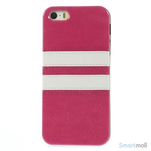 b822ce5f899 Crazy Horse cover med læderbagside til iPhone 5 og 5s - Rose