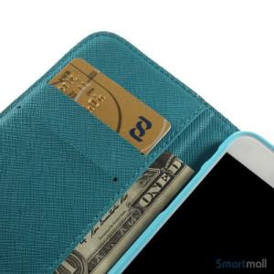 Dekorativ pung til iPhone 6, laeder med motiver i oliemaling - Farverige blomster6