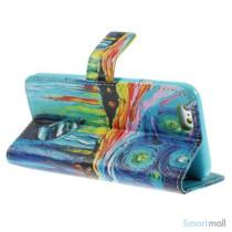 Dekorativ pung til iPhone 6, laeder med motiver i oliemaling - Starry Sky4