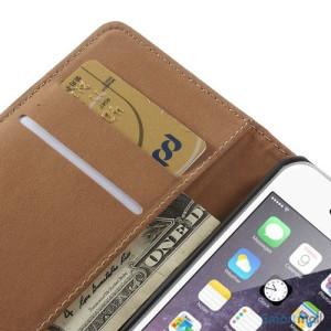 Eksklusiv pung til iPhone 6 i aegte laeder med indbygget stand-funktion - Roed7