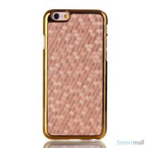 Eksklusivt cover til iPhone 6 med mønstret læderbelægning - Guld