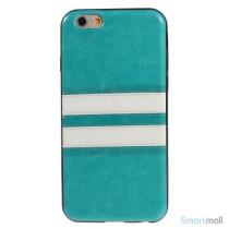 Elegant bag-cover til iPhone 6 i laeder og TPU-plast - Blaa2