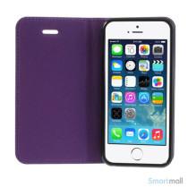 Elegant magnetisk flipcover til iPhone 5 og 5s - Lilla6