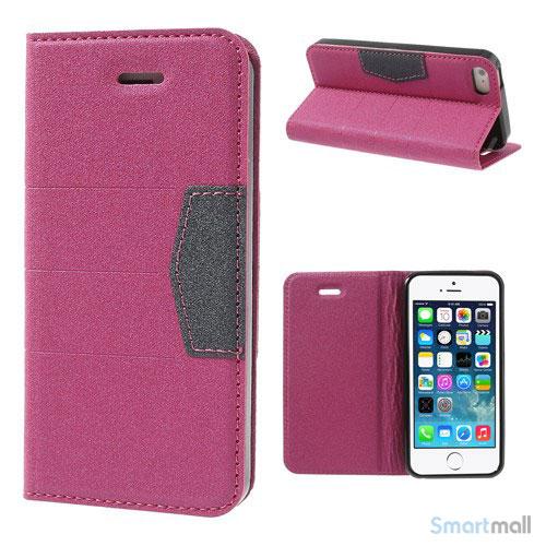 Elegant magnetisk flipcover til iPhone 5 og 5s - Rose