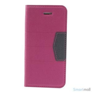 Elegant magnetisk flipcover til iPhone 5 og 5s - Rose3