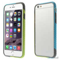 Enkel bumper til iPhone 6 med dekorativt og praktisk twill-moenster - Groen - Blaa