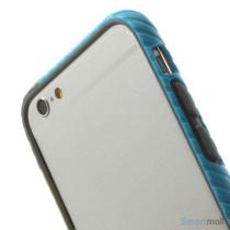 Enkel bumper til iPhone 6 med dekorativt og praktisk twill-moenster - Groen - Blaa5