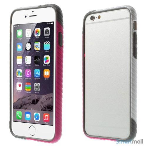 Enkel bumper til iPhone 6 med dekorativt og praktisk twill-moenster - Hvid - Rose