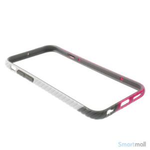 Enkel bumper til iPhone 6 med dekorativt og praktisk twill-moenster - Hvid - Rose7