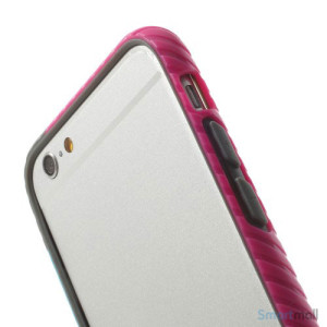 Enkel bumper til iPhone 6 med dekorativt og praktisk twill-moenster - Rose - Blaa3