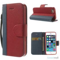 enkel-tofarvet-laederpung-til-iphone-5-og-iphone-5s-moerkeblaa-roed