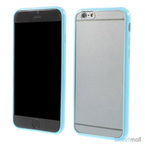 Enkelt stilfuldt cover med god beskyttelse for iPhone 6 - Baby Blaa