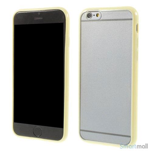 Enkelt stilfuldt cover med god beskyttelse for iPhone 6 - Gul