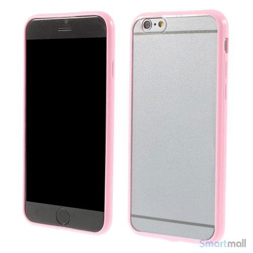 Enkelt stilfuldt cover med god beskyttelse for iPhone 6 - Pink