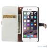 Feminin pung til iPhone 6 med mange praktiske detaljer - Dybblaa - Hvidt