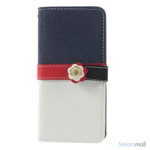 Feminin pung til iPhone 6 med mange praktiske detaljer - Dybblaa - Hvidt5