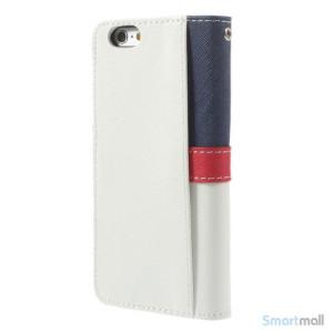 Feminin pung til iPhone 6 med mange praktiske detaljer - Dybblaa - Hvidt6