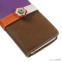 Feminin pung til iPhone 6 med mange praktiske detaljer - Lilla - Brun5