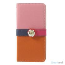 Feminin pung til iPhone 6 med mange praktiske detaljer - Pink - Orange6