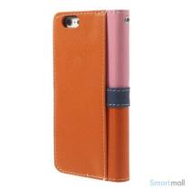 Feminin pung til iPhone 6 med mange praktiske detaljer - Pink - Orange7